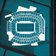 CITY PRINTS PRO FOOTBALL STADIUM PHILADELPHIA, PENNSYLVANIA 12X12