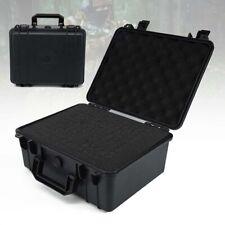 Black Waterproof Tool Box Hard Plastic Case Bag Organizer Durable Toolbox Large