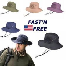 Bucket Hats Outdoor Fishing Hunting Wide Brim Safari Sun Protection Cap