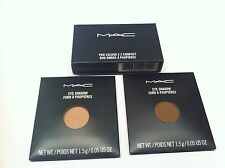 "MAC 2 Eye Shadows ""Grain and Charcoal Brown"" plus Pro Colour x2 Compact"
