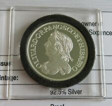 More details for the cromwell 1658 silver sixpence hallmarked silver proof from the lmo - coa