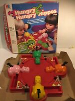 Vintage Milton Bradley Hungry Hungry Hippos Board Game Box Incomplete 1978