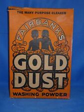 Early 1940's Fairbanks GOLD DUST Washing Powder Soap Box With Soap