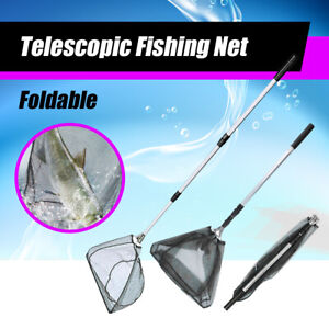 Extendable Fishing Net Telescopic Aluminum Handle Fish Collapsible Foldable