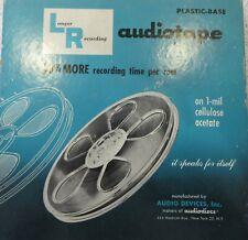 """2x 7"""" 1800ft Play 1/4"""" carrete de cinta de audio más largo y Estuche dos carretes Completo En Perfecto"""
