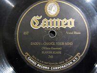 78 Rpm BLANCHE KLAISE (Vocal Blues) & BERNARD AND FERERA (Comedy) CAMEO 801