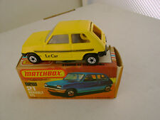 1978 MATCHBOX LESNEY SUPERFAST #21 RENAULT 5TL WITH BLACK BASE NEW IN BOX