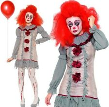 Smiffy's Womens Halloween Vintage Clown Lady Fancy Dress Costume