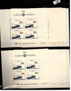 CB 10X PORTUGAL - MNH - EUROPA CEPT 1988 -TRANSPORT - SHIPS - MADEIRA