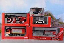Herpa Schuco 1:87 Autos Einsatzfahrzeuge Feuerwehr & Polizei 5-tlg.