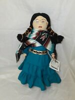 """Ethnic Cloth Doll  Choctaw Moon  Sukey 20"""" Tall"""
