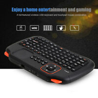 2.4G Mini USB Teclado inalámbrico Touchpad Control remoto 83 teclas para