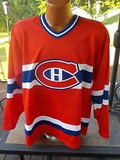 Vintage NHL 1980's CCM Canada Air Knit Maska Montreal Canadiens Jersey Medium