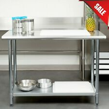 "New ListingCommercial Kitchen 24"" x 48"" Stainless Steel Work Food Prep Table Nsf Counter"