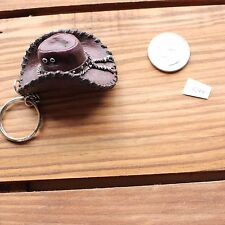 Brown Cowboy Hat Resin Novelty Key Chain Ring Fob #544