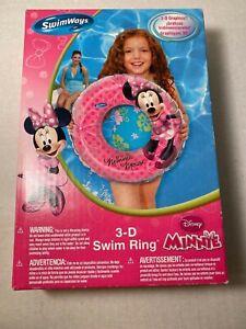 SwimWays ToysRus 3-D Graphics Disney Minnie Mouse Swim Ring Floatation