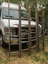 Vintage Wood Ladder 6ft+ Rustic Flowers Pots Pans Quilts primitive deco
