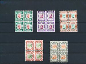 LN87713 Belize blocks of 4 taxation stamps fine lot MNH