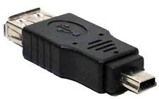 USB FEMELLE / MINI USB MÂLE , COUPLEUR ADAPTATEUR CONVERTISSEUR UNIVERSEL