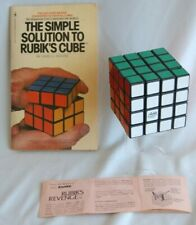 ORIGINAL Vintage RUBIK'S REVENGE Cube 1982 Ideal Toy PUZZLE & Solution Book