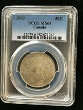 **1900**, PCGS Graded Canadian ¢50 Cent, **MS-64**EXTREMELY RARE