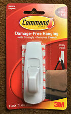3M COMMAND LARGE SELF ADHESIVE HOOK HOLDS UPTO 2.2KG / 5 LBS DAMAGE FREE 17003