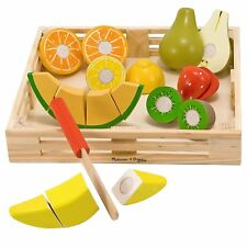 Melissa & Doug 14021 Cutting Fruit Wooden Toy Set Play Food Kitchen Accessory