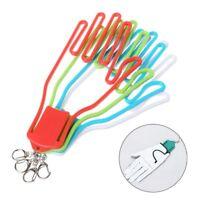 Golf Gloves Stretcher Golfer Tool Plastic Gear Rack Dryer Hanger With Keychain