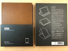10X Sena Handcrafted Genuine Leather Folio Case for iPad Air. - Vettra Brown