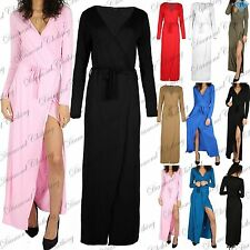 V Neck Party Long Sleeve Maxi Dresses for Women