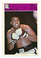 1980-81 Svijet Sporta MUHAMMAD ALI Boxing Card (rare souvenir trade Yugoslavia)