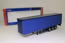 Corgi CC19901; 1:50 Scale Curtainside Trailer; Plain Blue; Excellent Boxed