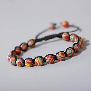 Fashion Men Women 8mm Natural Stone Gemstone Round Bead Makings Bracelets Jewelr