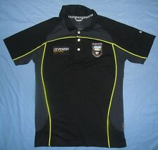 SLIGO (Sligeach) / KUKRI - MENS black button-up rugby polo Shirt. Size: SMALL