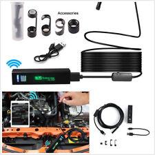 10M 8LED Waterproof Wifi Endoscope 8mm Car Truck 1200P HD Inspection Camera Kit
