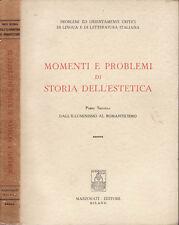 MOMENTI E PROBLEMI DI STORIA DELL'ESTETICA ( VOL.II )