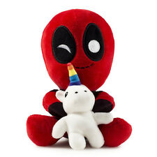 Marvel Comics ~ DEADPOOL RIDING A UNICORN PLUSH FIGURE ~ Phunny Kidrobot