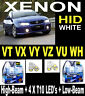 Crystal XENON HID White Look Halogen Lights For Commodore VT VX VY VZ VU WH