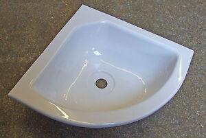 Corner bowl 285 x 285 WHITE caravan camper motorhome boat horsebox   310174