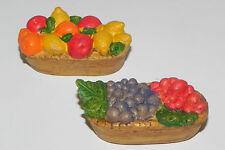 Dollhouse Accessory Nativity Set Food Baskets Pellegrini Diorama Fruit Accessory