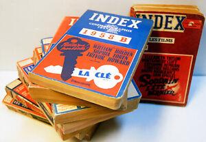 8 volumes de l' INDEX de la CINEMATOGRAPHIE Française. -1955 à 1960 - BE