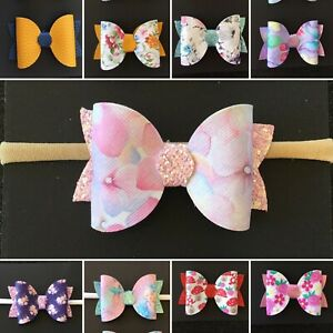 Baby Girl, Toddler, Newborn Nylon Head Bands or Piggy Tail Clips