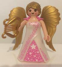 Playmobil Engel mit goldenen Flügeln und Harfe