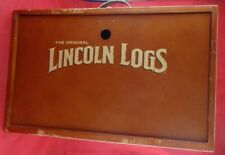The Original Lincoln Logs Building Set Collectors Edition Wooden Box only