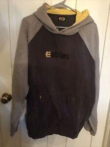 Etnies Logo Hoodie Skateboarding - Brown - XL