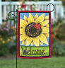 Toland Sunflower Lady 12.5 x 18 Cute Welcome Ladybug Flower Spring Garden Flag