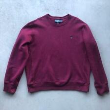 EUC Mens Maroon Red Polo Ralph Lauren Reverse Weave Crewneck Sweat Shirt XL