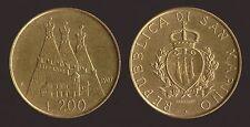 SAN MARINO 200 LIRE 1987 STEMMA CASTELLO BORGO MAGGIORE FDC/UNC FIOR DI CONIO