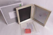 New, no glass, Pottery Barn Kids Silver Leaf Handprint & Footprint Frame 19 x 11