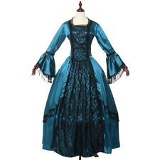 Retro Victorian Elegant Puff Sleeve Dress Reenactment Theater Costume Ball Gown